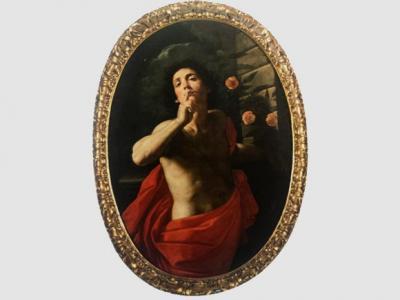 """Michele Desubleo detto Michele Fiammingo, Attr. (Maubeuge, 1602 – Parma, 1676), """"Allegoria del Silenzio""""."""