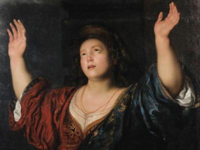 """Attribuito a Gerard Seghers, """"Giuditta con la testa di Oloferne"""", (particolare). Parigi, Sotheby's, 26 giugno 2014, lotto 20."""