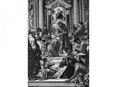 """Fig. 1. Fra Semplice da Verona, """"Vestizione di santa Chiara"""", Grenoble, Musée de Grenoble"""